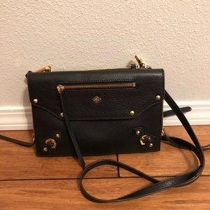 orYany pebble leather crossbody bag in black